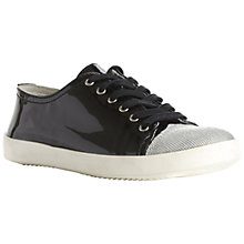 Buy Bertie Nattie Patent Leather Contrast Toecap Lace-Up Trainers Online at johnlewis.com
