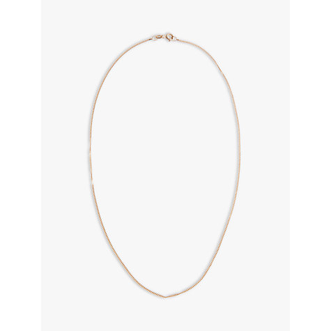 Buy Nina Breddal 9ct Yellow Gold Fine Trace Chain Online at johnlewis.com