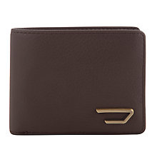 Buy Diesel Hiresh Leather Wallet, Brown Online at johnlewis.com