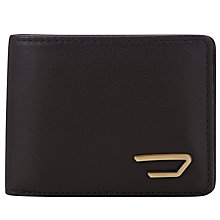 Buy Diesel Neela Leather Bi-Fold Wallet, Black Online at johnlewis.com
