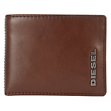 Buy Diesel Hiresh XS F & B Wallet, Brown/yellow Online at johnlewis.com