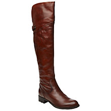 Buy Dune Totton Leather Block Heel Over the Knee Boots Online at johnlewis.com