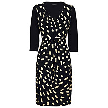 Buy James Lakeland Pleat Print Dress, Black/Cream Online at johnlewis.com
