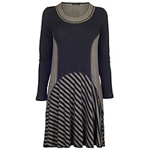 Buy James Lakeland Striped Patch Dress, Black/Mink Online at johnlewis.com