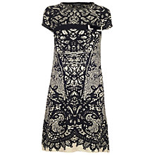 Buy James Lakeland Jacquard Dress, Black/Cream Online at johnlewis.com