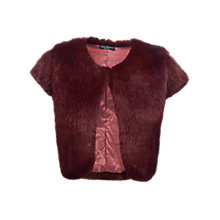 Buy James Lakeland Faux Fur Gilet, Burgundy Online at johnlewis.com