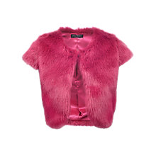 Buy James Lakeland Faux Fur Bolero, Fuchsia Online at johnlewis.com