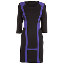 Buy James Lakeland Colour Trim Dress, Navy/Purple Online at johnlewis.com