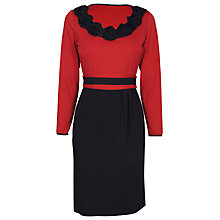 Buy James Lakeland Contrast Rose Dress, Red/Black Online at johnlewis.com
