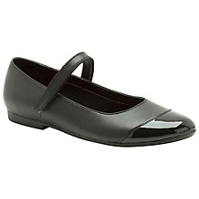 Buy Clarks No Shouting Shoes, Black Online at johnlewis.com