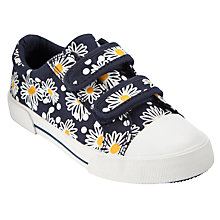 Buy John Lewis Girl Daisy Double Strap Trainers, Blue Online at johnlewis.com