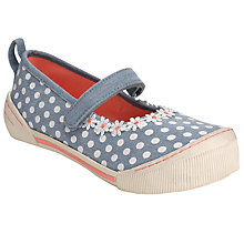 Buy John Lewis Girl Spot Shoes, Denim Online at johnlewis.com