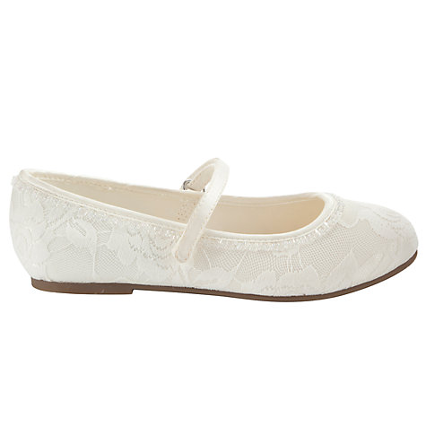 Buy John Lewis Girl Lace Overlay Bridesmaids' Shoes, Ivory Online at johnlewis.com