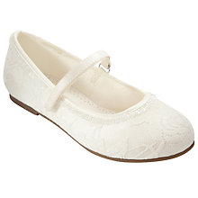 Buy John Lewis Girl Lace Overlay Bridesmaid Shoes, Ivory Online at johnlewis.com