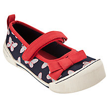 Buy John Lewis Girl Butterfly Shoes, Navy Online at johnlewis.com