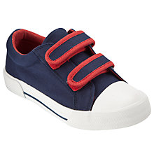 Buy John Lewis Boy Double Strap Trainers, Navy Online at johnlewis.com