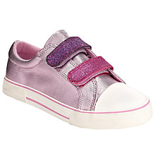 Buy John Lewis Girl Glitter Double Strap Trainers, Pink Online at johnlewis.com