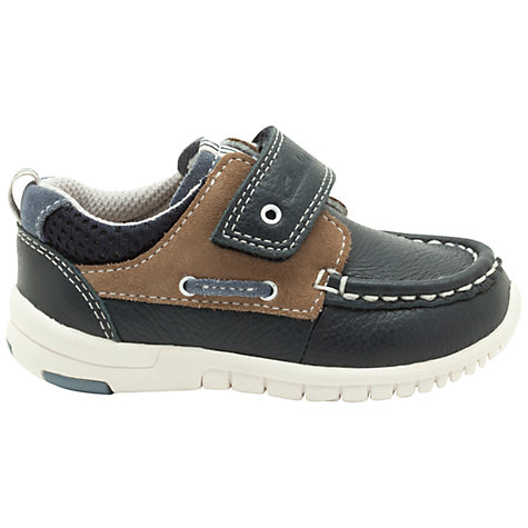 Buy Clarks Deck Flex Shoes, Navy Online at johnlewis.com