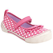 Buy John Lewis Girl Spot Mary Jane Shoes, Pink Online at johnlewis.com