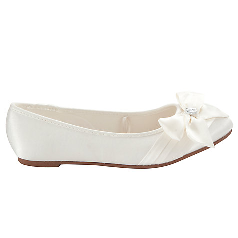 Buy John Lewis Girl Bow Pointed Bridesmaids Shoes, Ivory Online at johnlewis.com