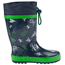 Buy John Lewis Boy Bug Wellington Boots, Navy/Green Online at johnlewis.com