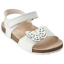 Buy John Lewis Girl Butterfly Sandals, White Online at johnlewis.com
