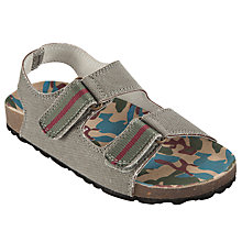 Buy John Lewis Boy Camo Footbed, Khaki Online at johnlewis.com