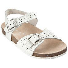 Buy John Lewis Girl Cut Out Sandals, White Online at johnlewis.com