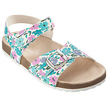 Buy John Lewis Girl Idyllic Floral Sandals, Multi Online at johnlewis.com