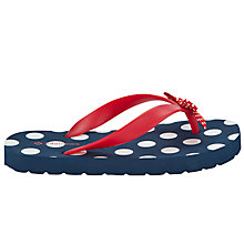Buy John Lewis Girl Nautical Dot Flip Flops, Multi Online at johnlewis.com