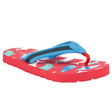 Buy John Lewis Boy Shark Flip Flops, Red/Multi Online at johnlewis.com