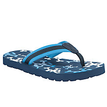 Buy John Lewis Boy Skull and Crossbones Flip Flops, Navy/Multi Online at johnlewis.com