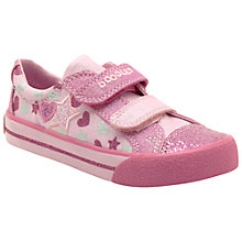 Buy Clarks Doodles Junior Glitter Be Canvas Trainers, Pink Online at johnlewis.com