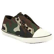 Buy John Lewis Boy Camo Slip On Canvas Trainers, Multi Online at johnlewis.com