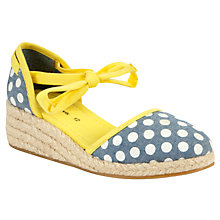 Buy John Lewis Dot Espadrille Wedges, Denim Online at johnlewis.com