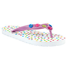 Buy John Lewis Girl Spot Flip Flops, Multi Online at johnlewis.com