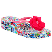 Buy John Lewis Girl Traveller Wedge Flip Flops, Multi Online at johnlewis.com