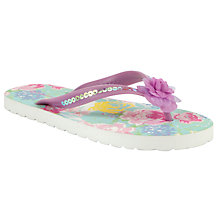 Buy John Lewis Girl Idyllic Floral Flip Flop, Multi Online at johnlewis.com
