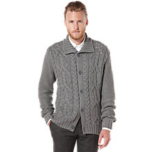 Buy Original Penguin Cable Knit Cardigan, Grey Online at johnlewis.com