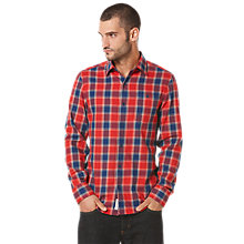 Buy Original Penguin Check Long Sleeve Shirt, Red Online at johnlewis.com