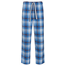 Buy John Lewis Brushed Cotton Check Lounge Pants, Blue Online at johnlewis.com