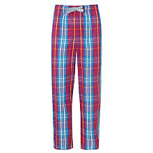 Buy John Lewis Cotton 3-Tone Gingham Lounge Pants, Red/Blue Online at johnlewis.com