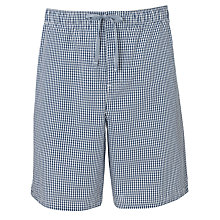 Buy John Lewis Check Lounge Shorts, Blue/White Online at johnlewis.com