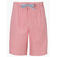 Buy John Lewis Chambray Stripe Lounge Shorts, Red Online at johnlewis.com