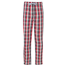 Buy John Lewis Woven Check Lounge Pants, Red Online at johnlewis.com