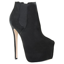 Buy Carvela Saint Suede Super High Stiletto Ankle Boots, Black Online at johnlewis.com