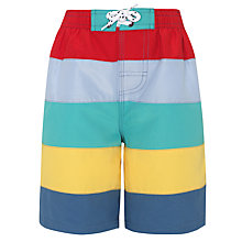 Buy John Lewis Boy Panelled Swim Shorts, Multi Online at johnlewis.com