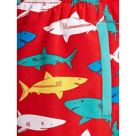 Buy John Lewis Boy Shark Board Shorts, Red/Multi Online at johnlewis.com