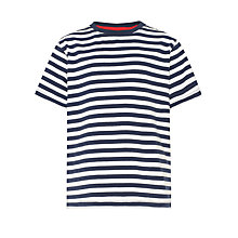 Buy John Lewis Boy Breton Striped Crew T-Shirt Online at johnlewis.com