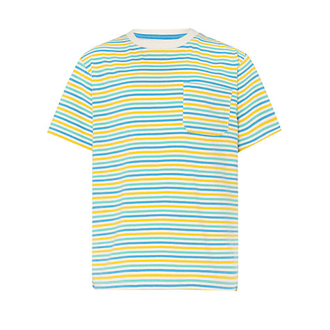 Buy John Lewis Boy Mini Striped Contrast T-Shirt, Multi Online at johnlewis.com